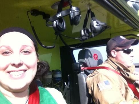 I rode in a very large Fire Truck